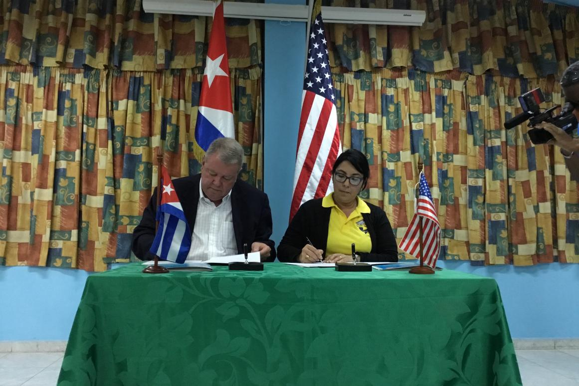 HRI and the Cuban national aquarium sign a partnership agreement