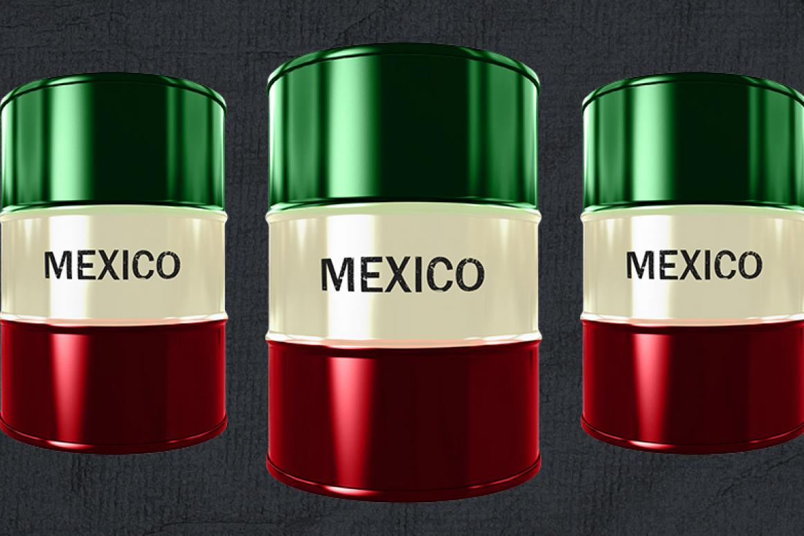 Mexican oil drums